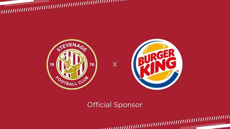 Burger King will be the main shirt sponsor of Stevenage FC for the next two seasons. Picture: Steven