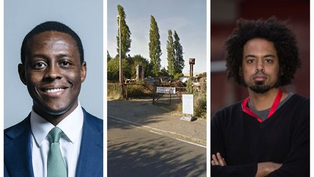 Hitchin and Harpenden MP Bim Afolami (left) and Highbury ward councillor Sam Collins are both disapp