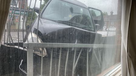 The view from Jo Sorrell's living room window after the crash in Stevenage. Picture: Jo Sorrell
