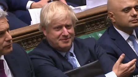Boris Johnson looks unimpressed by Ken Clarke's speech. Photograph: Parliament TV.