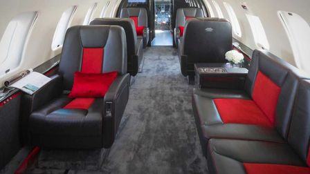 The Bombardier Challenger 605 which is now part of the Saxon Air fleet. Picture: Saxon Air