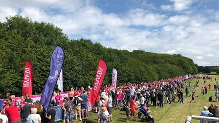 The start line at Sunday's Race for Life in Stevenage. Picture: Annie Ashwell.