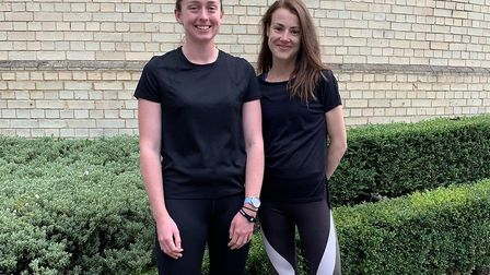 Hannah Brown (right) and her friend, Emily Hetherington. Picture: Courtesy of Hannah Brown