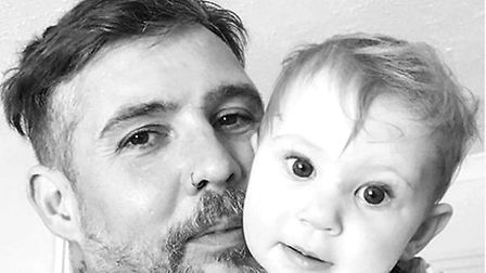 Banksy posing with her Dad. Picture: Gem Gavaghan