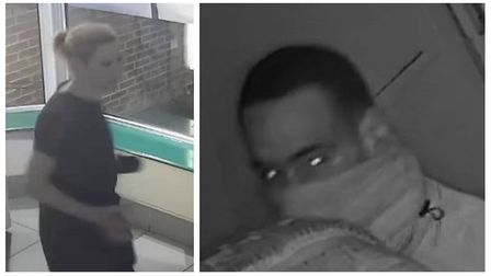 Police have released CCTV images of a man and a woman they believe may be able to help with enquirie