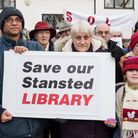 A Stansted Library protest was held earlier this year. Picture: SAFFRON PHOTO