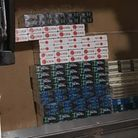 Herts police and trading standards officers seized £10,000 worth of illegal cigarettes from a Steven