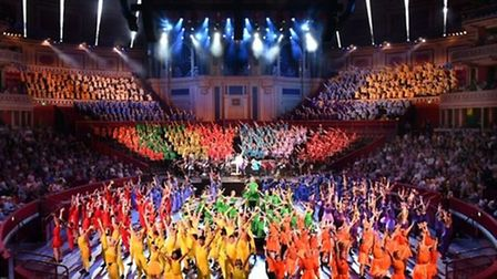 Theatretrain Stevenage performing at The Royal Albert Hall on Sunday. Picture: Richard Washbrooke