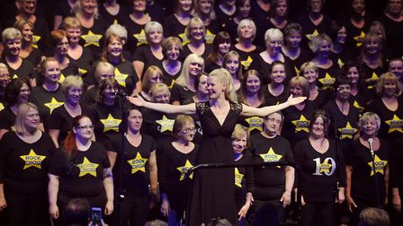 Lizzie Deane with the Rock Choir, who will be performing in Stevenage. Picture: Rock Choir