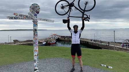 Simon Galbraith after completing his 938 cycle. Picture: Simon Galbraith