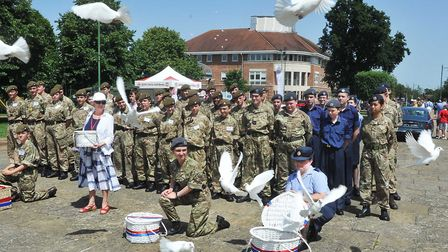 Releasing Doves in memory of those servicemen who lost their lives fighting for the country. Picture