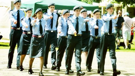 Letchworth Air Training Corps on the march. Picture: Alan Millard.