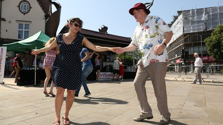 Enjoying the vibe of the Letchworth Vintage Festival 2019. Picture: Strand PR