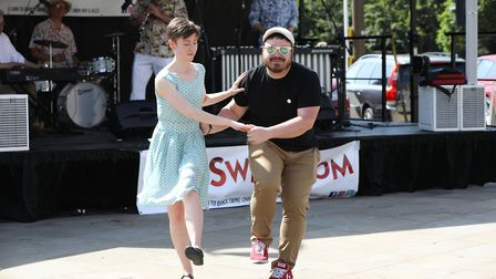 Jiving at the festival. Picture: Strand PR