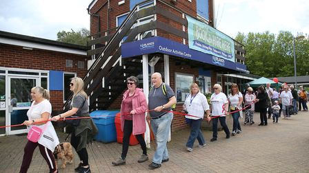 The Stevenage Carers Walk started at Costello's Cafe in Fairlands Valley Park. Picture: Danny Loo