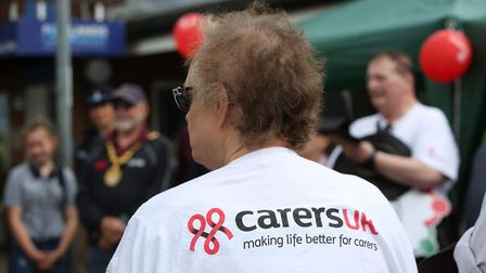 The annual walk, now in its fifth year, was raising money for Carers UK. Picture: Danny Loo