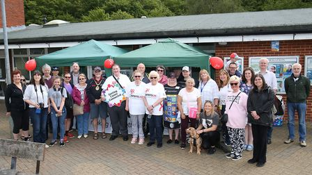Carers gather before the start of the Stevenage Carers Walk, which was held for Carers Week. Picture