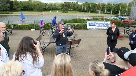 Councillor Simon Speller addresses the audience. Picture: Danny Loo