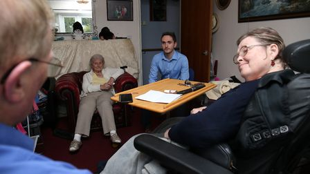 Norman Phillips speaks with The Comet's Jacob Thorburn in his home. Picture: DANNY LOO
