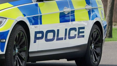 Police searched for a driver who failed to stop and was involved in a crash in Stevenage today.