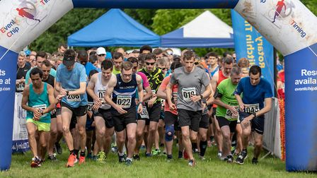 More than 500 people participated in Hitchin's Hard Half Marathon. Picture: Martin Wootton
