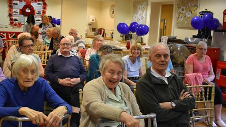 The residents of Jubilee Court were delighted with the opera performance. Picture: Quantum Care