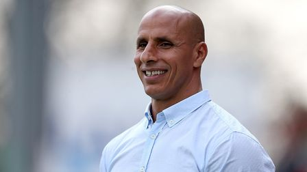 Stevenage manager Dino Maamria during Stevenage vs Notts County, Sky Bet EFL League 2 Football at th