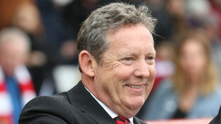 Stevenage FC chairman Phil Wallace before the League Two game between Stevenage FC v Exeter City at