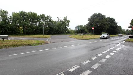 The A505 Slip End junction where PC Greig Langdon was involved in a crash. Picture: Harry Hubbard
