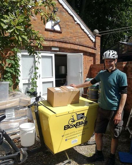 Box Bike will be providing ShopAppy customers with a green delivery alternative. Picture: Box Bike