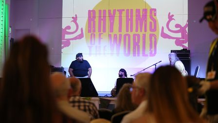 Sukhi Rayat performs at the Rhythms of the World 2019 in Hitchin Town Hall. Picture: Strand PR