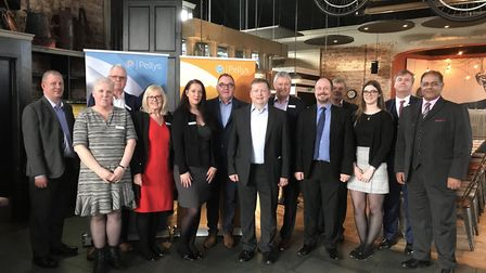 Representatives of Pellys at the Hitchin lauch event in February 2019