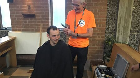 Aaron Collins attends the Feed Up Warm Up Stevenage drop-in each week, and says when he is back on h