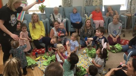 Hitchin's toddlers group helps combat loneliness among residents living with dementia at Milford Lod
