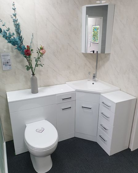 A bathroom specialist can help you find the right products if you're renovating a small space.