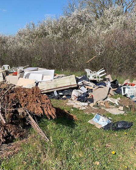 Criminals fly-tipped in Little Wymondley. Picture: Herts Police