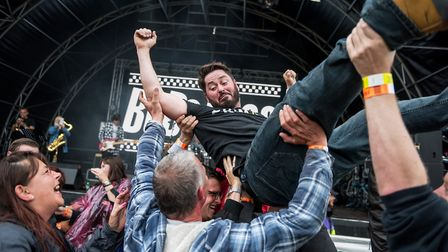 Ska band BuBounce at Todd in the Hole Festival. Picture: Caitlin Mogridge