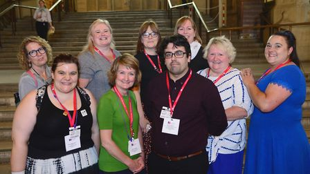 Stevenage nurse Anne Wells (second from right) went to parliament with colleagues to highlight the N