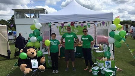 Members of Macmillan Cancer Support's Stevenage Fundraising Group man a stall to help raise vital fu