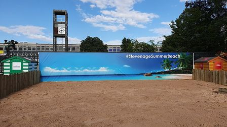 Stevenage summer beach is here until the end of August! Picture: Stevenage Borough Council