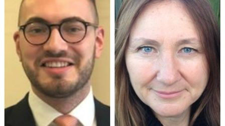 Councillor Christian Criscione and Councillor Louise Pepper. Pictures: CONTRIBUTED