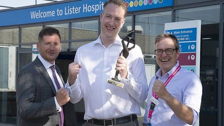 Ben Riley of CHKS, Martin Armstrong of East and North Herts NHS and Michael Chilvers of East and Nor