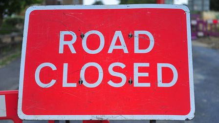 Six Hills Way has been closed this afternoon between Homestead Moat and Colestrete. Picture: HARRY R