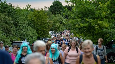 Hundreds turned out for Garden House Hospice Care's tenth year of Starlight Walk. Picture: Martin Wo