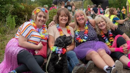 Walkers donned their fancy dress in aid of the hospice. Picture: Martin Wooton