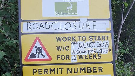 Baldock's Station Road will be closed for three weeks while Ringway carry out pedestrian safety work