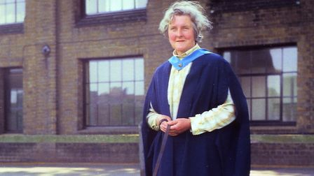 Betty Game at her graduation. Picture: Helen Wright