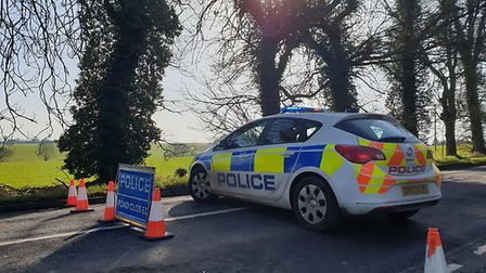 Police have closed the High Street in Graveley, as well as Graveley Lane at the junction for Gravele