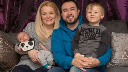 Danny Loo with his wife Tracey and their children Sonny and Brandon. Picture: Danny Loo.