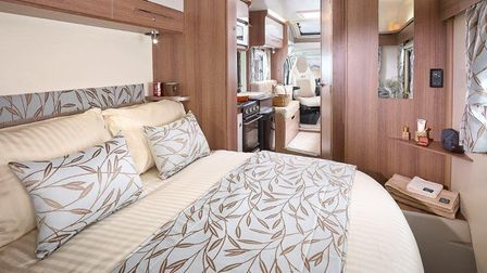 Photo by Bailey Caravans/ Alan Bond. Once you're packed you're ready to go and so is your bed for th